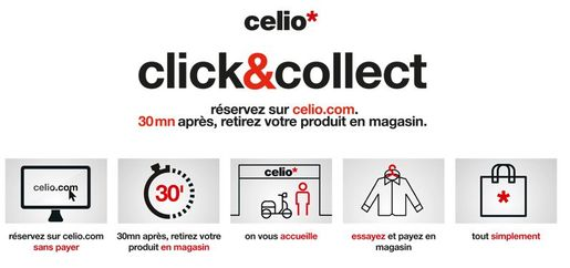 celio lance un service de click and collect. Black Bedroom Furniture Sets. Home Design Ideas