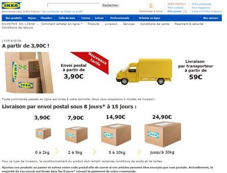 la livraison est toujours un frein la commande de meubles en ligne - Ikea Fr Achetezenligne