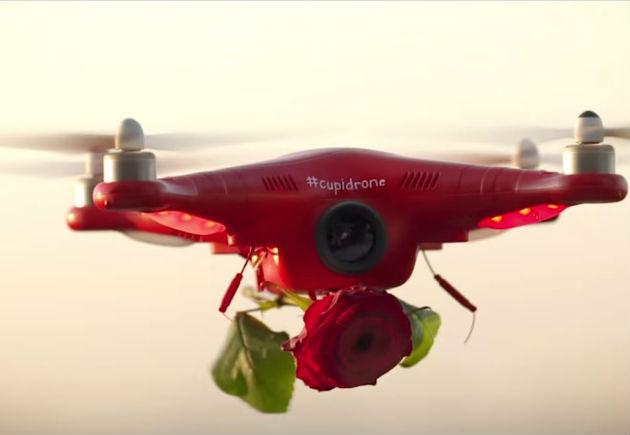 Saint valentin un drone pour livrer des for Livrer des roses