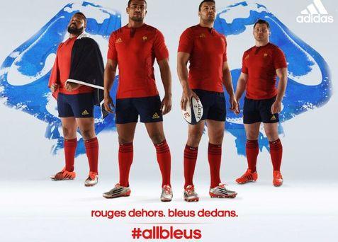 282c08b954a2 Les Quinze joueront en rouge contre les Ecossais samedi soir, la couleur  choisie par Adidas