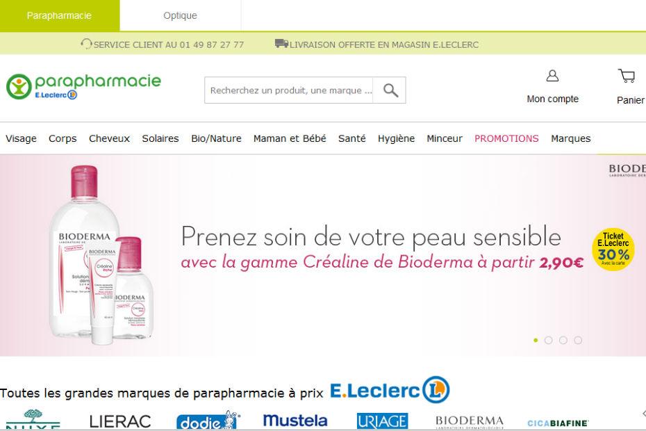 Parapharmacie E.Leclerc : un objectif de 40...