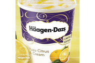 Pot de glace Haagen Dazs Yuzu Citrus & Cream 757 ml