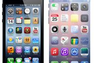 Comparaison visuelle entre l'iPhone 5 et 6.