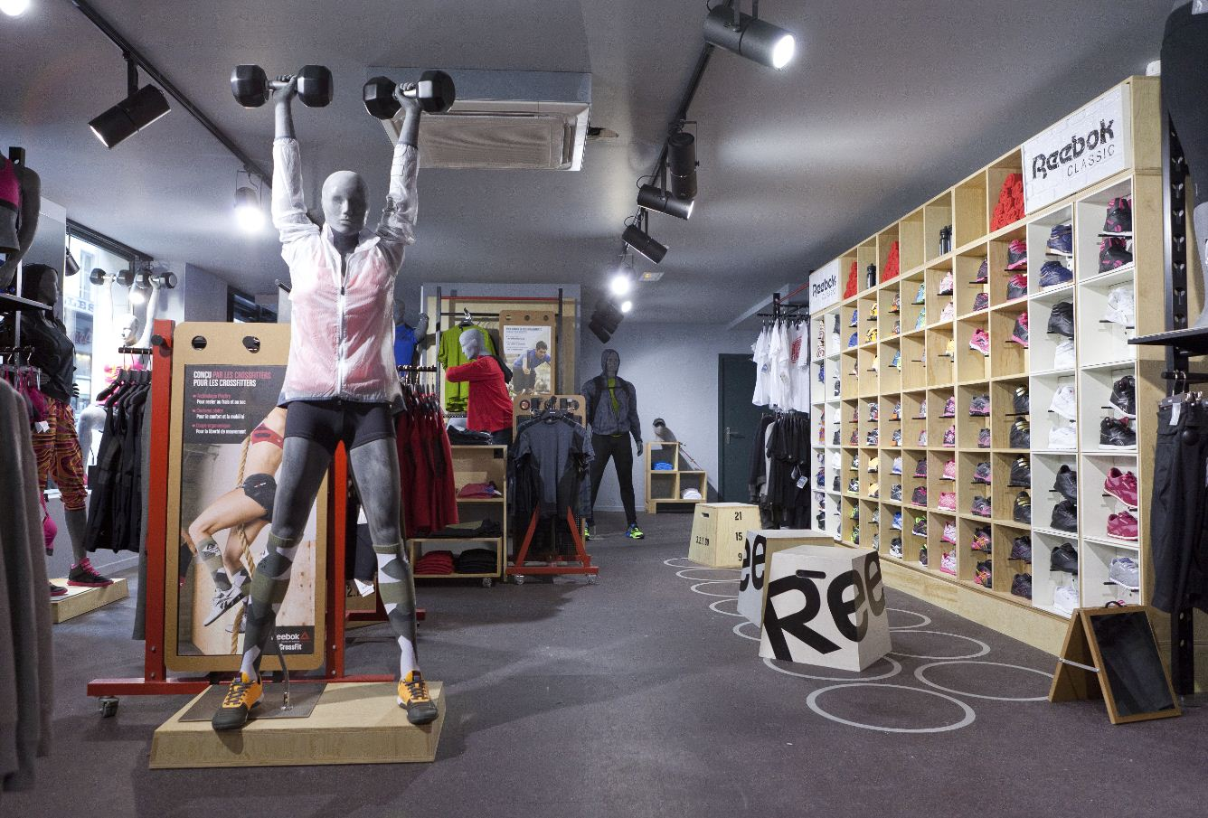 reebok ouvre un concept store paris sport articles sportifs. Black Bedroom Furniture Sets. Home Design Ideas