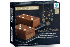 Deux bûchettes pâtissières chocolat-noisette Picard