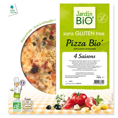 Pizza sans gluten 4 saisons jardin bio 39 de jardin bio for Jardin 4 saison
