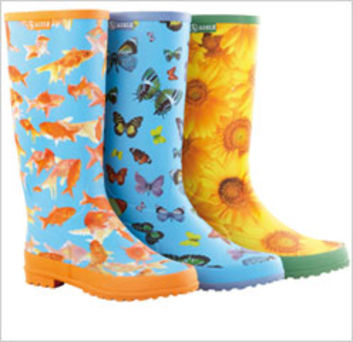 Des bottes aux couleurs ensoleillées , Textile, habillement