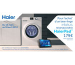 PROMOTION HAIER LAVE-LINGE TABLETTE