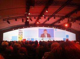 Georges Plassant, PDg du groupe, lors de l'assemblée générale de Carrefour, le 23 avril, à Paris.