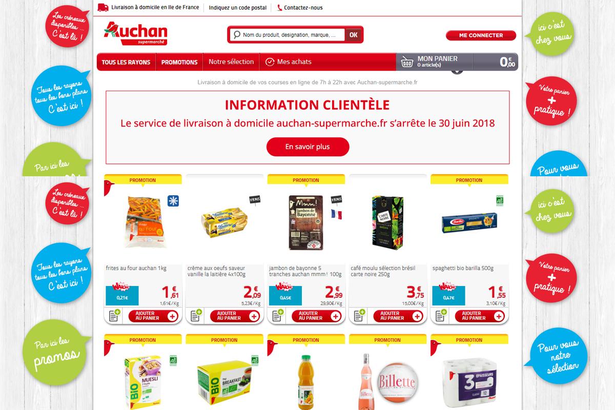 Auchan Supermarché arrête de livrer à domicile