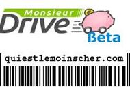Comparateurs de prix - monsieurdrive - quiestlemoinscher