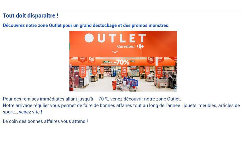 Carrefour vise une vingtaine d outlets dans... 424c2616de0