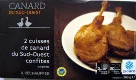 2 cuisses de canard du sud ouest confites picard - Recette de cuisse de canard en sauce ...