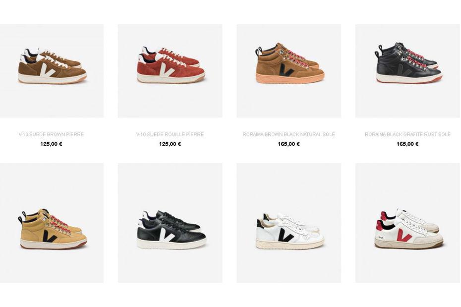 Veja est la marque la plus plébiscitée sur Chaussures