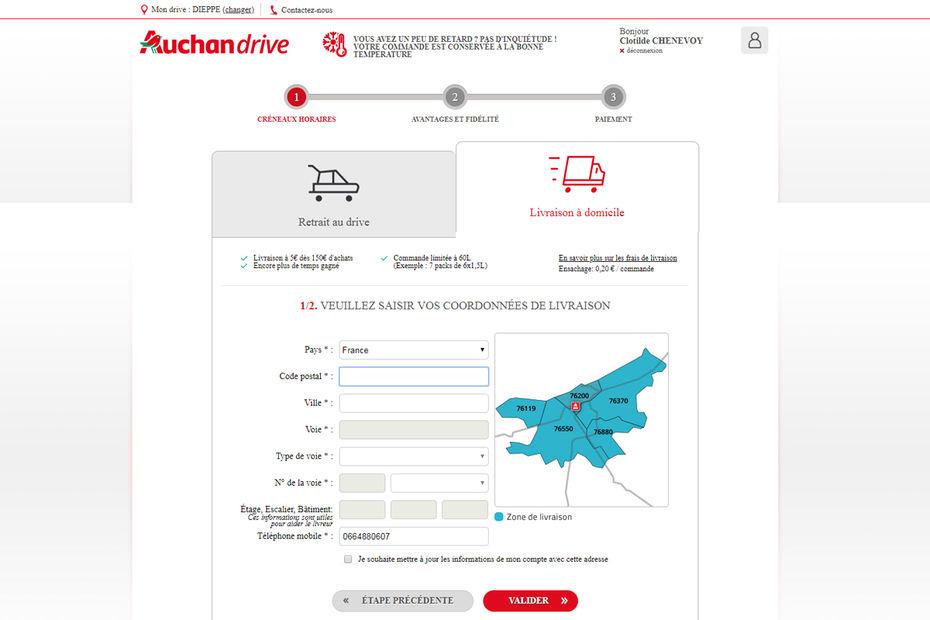 Auchan Compte Deployer La Livraison A Domicile Depuis L Ensemble De