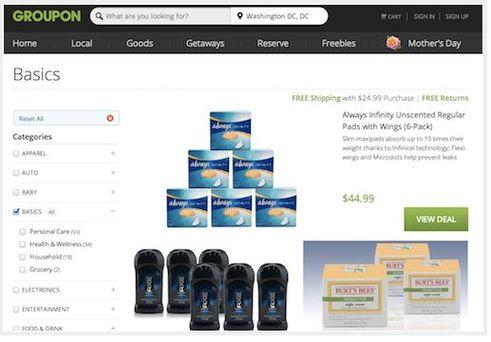 groupon se met vendre des produits de produits non alimentaire. Black Bedroom Furniture Sets. Home Design Ideas