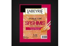 Saumon fumé façon Sashimis parsemé de sésame de Labeyrie