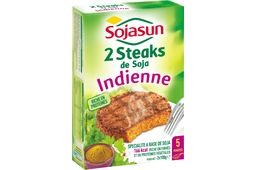 2 Steaks à l'Indienne Sojasun