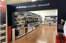 Mr.Bricolage, comme ici à Epernay, accueille Cdiscount en rayon.