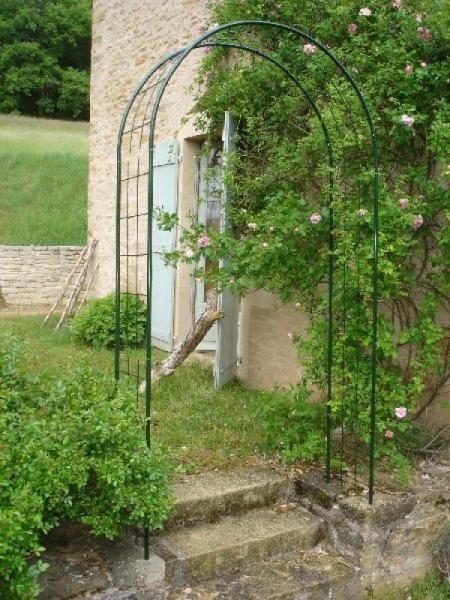 Arche double d cor treillage louis moulin - Arche metallique jardin ...