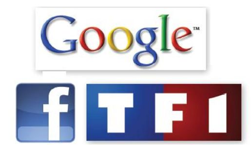 Google Facebook TF1