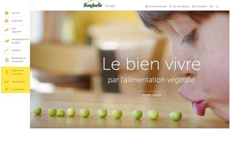 Bonduelle lance un nouveau site internet corporate