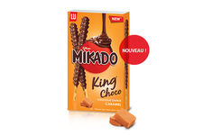 Mikado King Choco saveur caramel de Mondelez International