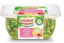 La salade repas « Tout Simplement » - Jambon – Emmental – Salade crudités de Daunat