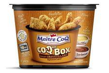 Coq en Box avec poulet croustillant légèrement épicé de Maître Coq