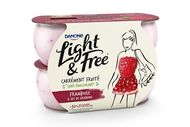 Light & Free framboise de Danone