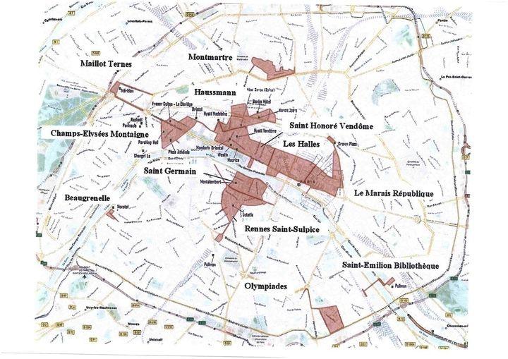 Paris sera divis en 12 zones touristiques for Carte paris touristique