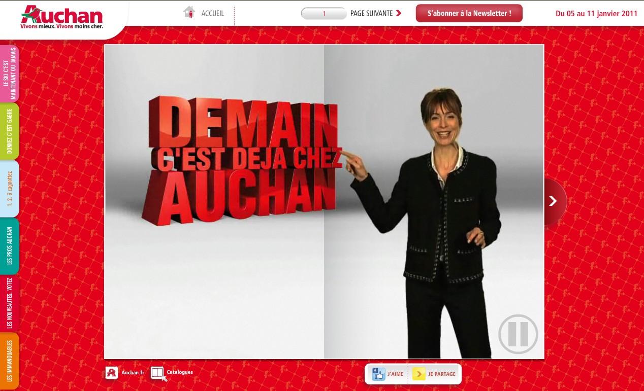 Auchan lance sa web tv destination des for Email auchan