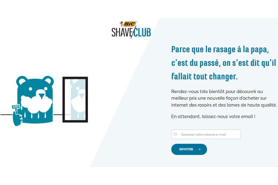 Vente de rasoirs en ligne le bic shave club - Vente par internet france ...