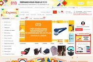 Aliexpress, actuellement aux couleurs du Global Shopping Festival qui interviendra le 11 novembre, existe en France depuis 2010.