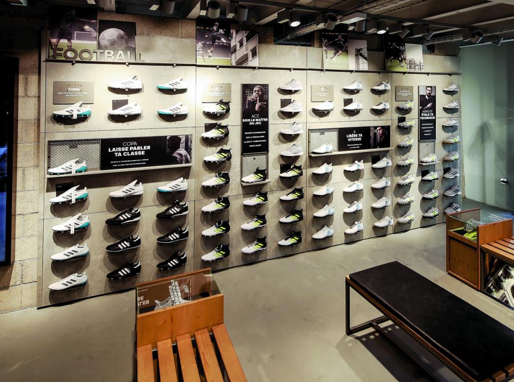 Adidas choisit Paris pour un magasin 100% foot