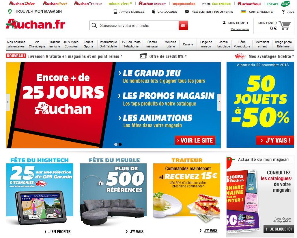 Auchan entre dans le top 15 des sites internet for Email auchan