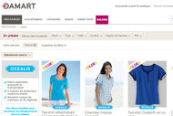 Damart cible 40% de VAD issue du site e-commerce.