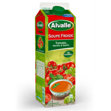 soupe froide tomate menthe et basilic d 39 alvalle. Black Bedroom Furniture Sets. Home Design Ideas
