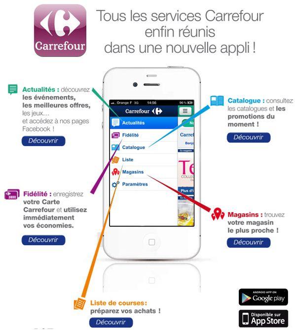 Carte Carrefour Application.Carrefour Lance Deux Nouvelles Applications