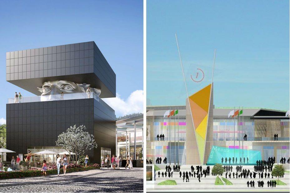 les deux plus grands centres commerciaux de. Black Bedroom Furniture Sets. Home Design Ideas