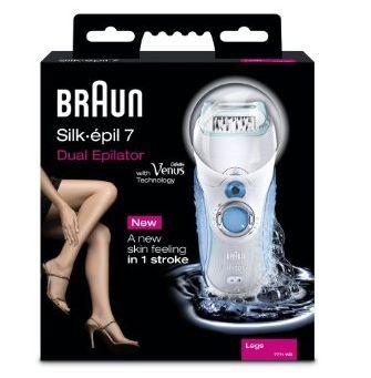 Silk pil 7 wet dry dual epilator de braun - Rasoir electrique etanche sous douche ...