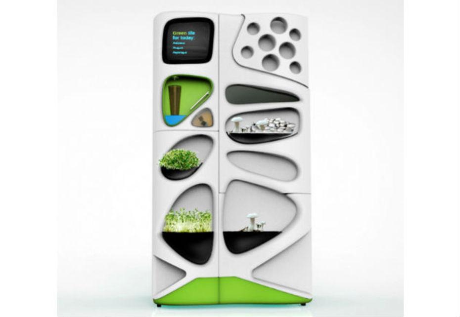 Les trois designers Yolegmma Márquez, Erin Glaberson et Emily Kvale ont conçu le réfrigérateur écologique Verdant.