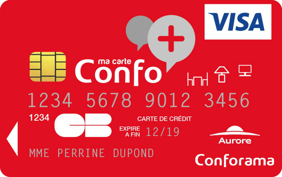 carte conforama visa aurore Conforama lance une nouvelle version de sa