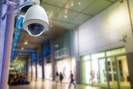 Surveillance Security Camera or CCTV in shopping m