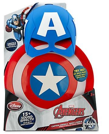 L ensemble masque et bouclier captain america de disney de disney - Masque de captain america ...