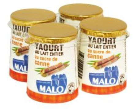 yaourt pot au lait entier au sucre de canne malo
