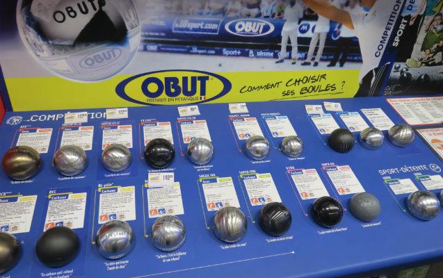 Intersport plan de campagne boules p tanque for Choisir des boules de petanque