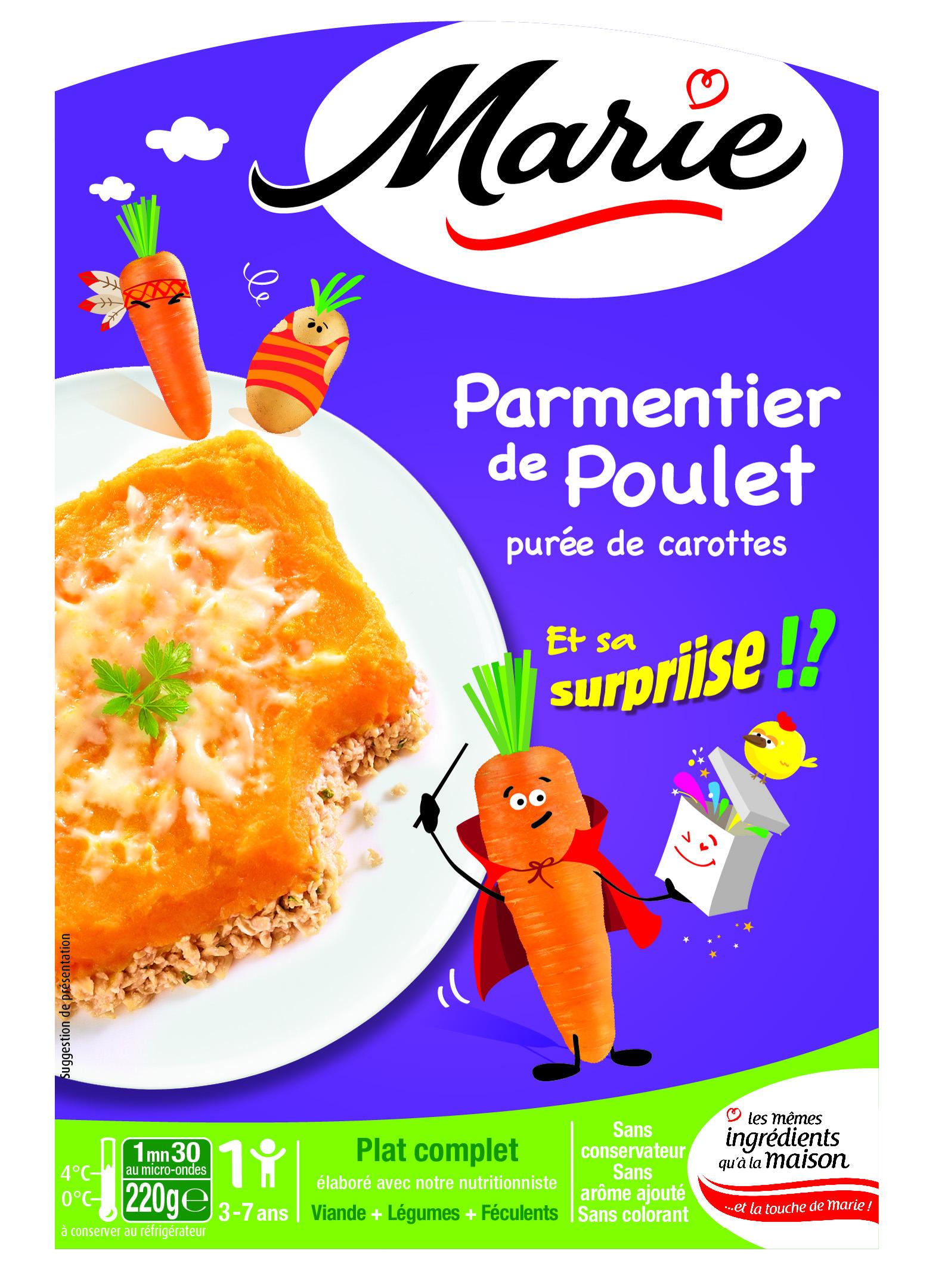 Marie cr e les plats cuisin s pour enfants epicerie for Plats cuisines marie