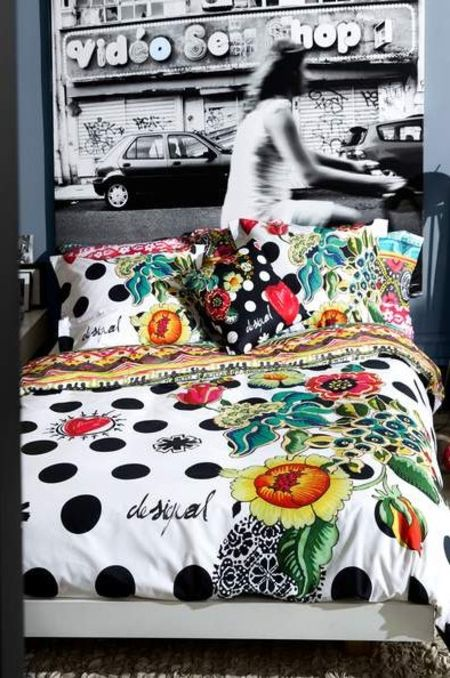 housse de couette desigual living collection dots. Black Bedroom Furniture Sets. Home Design Ideas