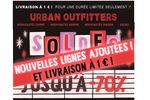 Mail soldes Urban Outfitters